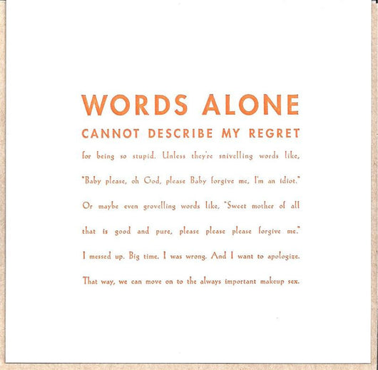 Words Alone Card