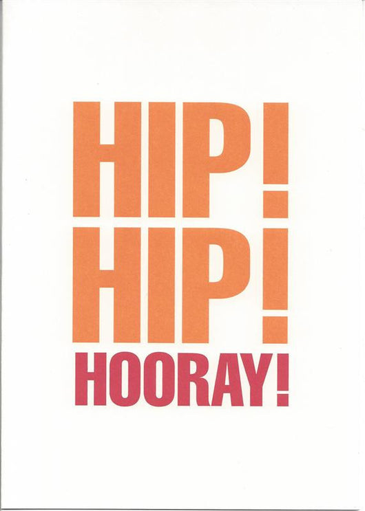 Hip! Hip! Hooray! Card