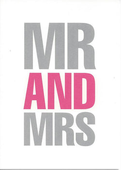 Mr and Mrs Card