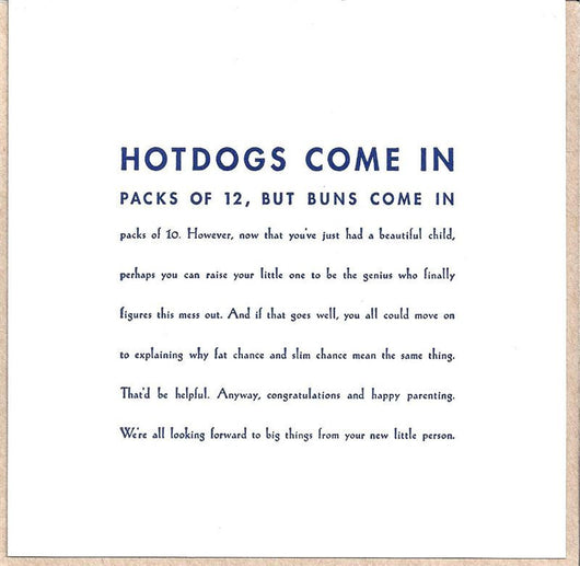 Hot Dogs Come In Card