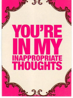 Inappropriate Thoughts Card