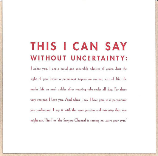 Uncertainty Card