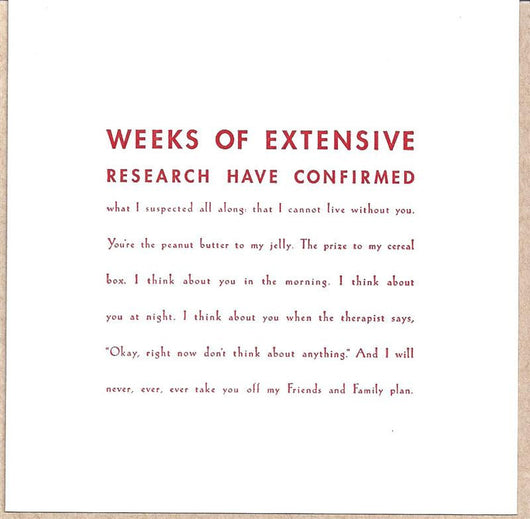 Extensive Research Card