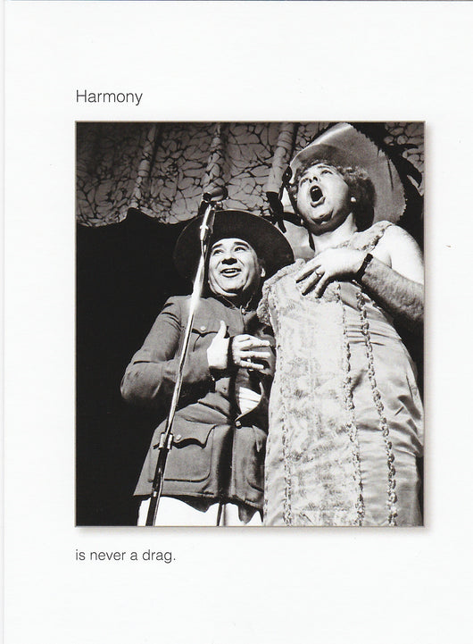 Harmony Is Never a Drag Birthday Card