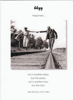 Happiness Not In Another Place Anniversary Card