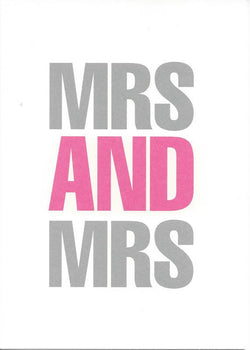 Mrs and Mrs
