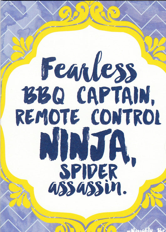 Fearless BBQ Captain Fathers Day Card