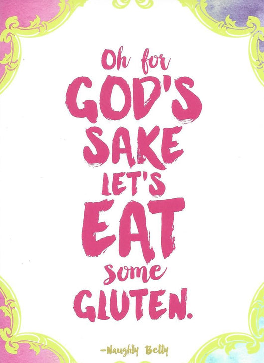 Gluten Birthday Card