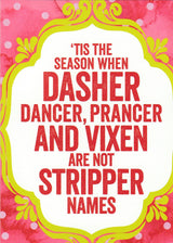 Dasher and Dancer Holiday Card
