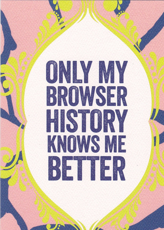 Browser History Birthday Card