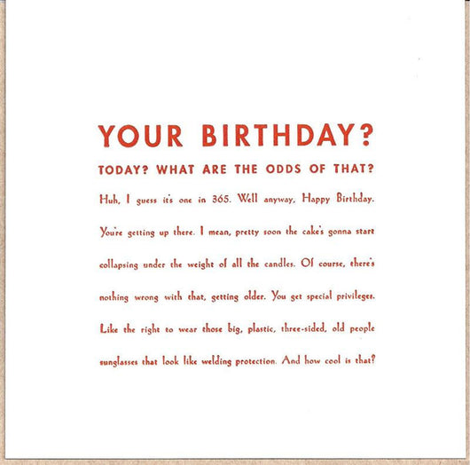 Your Birthday? Card