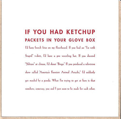 If You Had Ketchup Card