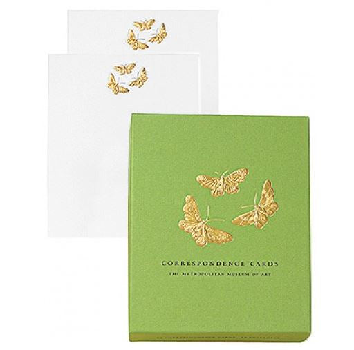 Embossed Butterflies Correspondence Card Set