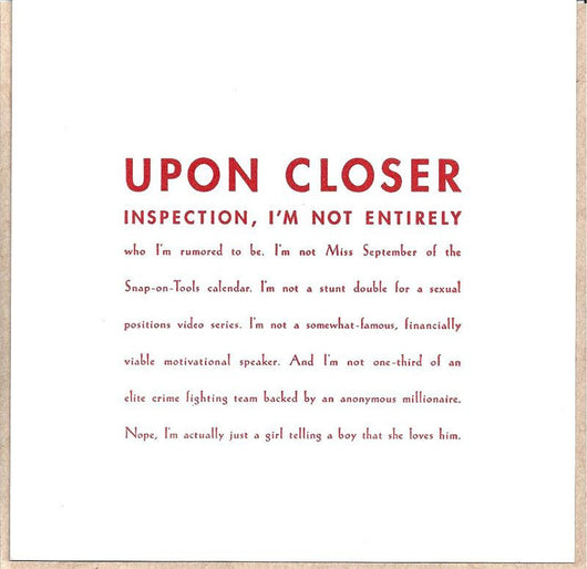 Upon Closer Inspection Card