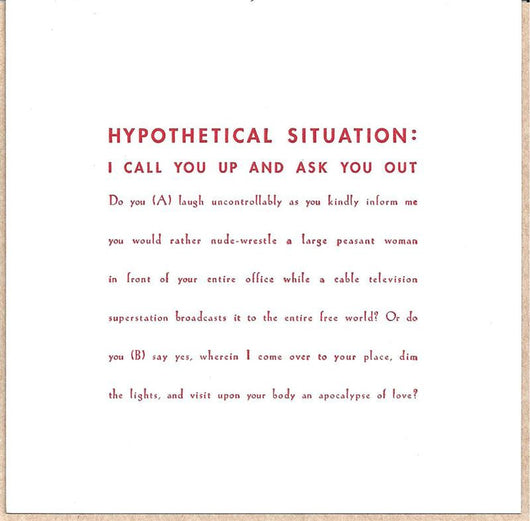 Hypothetical Situation Card