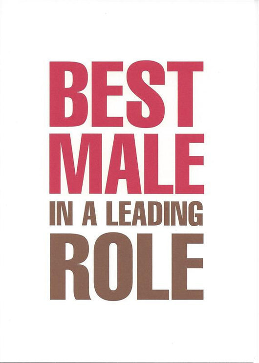Best Male In a Leading Role Card