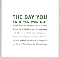 The Day You Said Yes Card