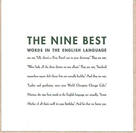 The Nine Best Words Cards