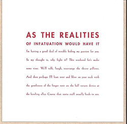 As the Realities of Infatuation Card