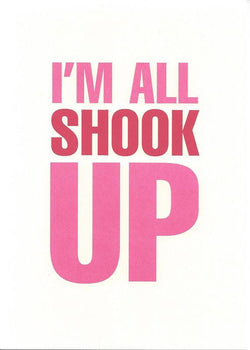 I'm All Shook Up Card