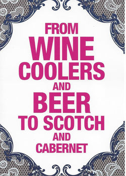 Wine Coolers Anniversary Card