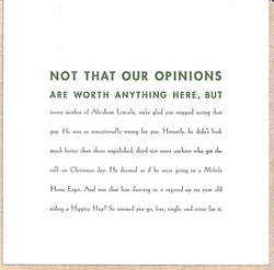 Not That Our Opinions Card