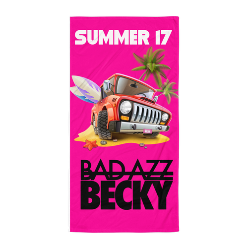 Summer 17 Beach Blanket - Bad Azz Becky