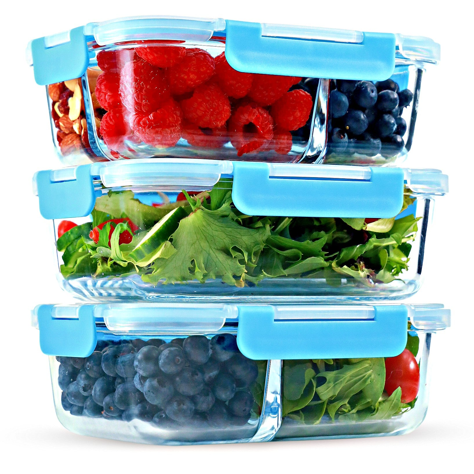 50 Meal Prep Containers 1//2//3 Compartments Reusable Plastic Food Storage Diet