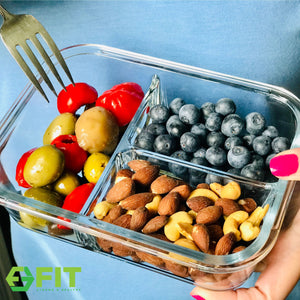 Glass Containers for Food Storage With Lids - Glass Bento Boxes by FIT Strong & Healthy