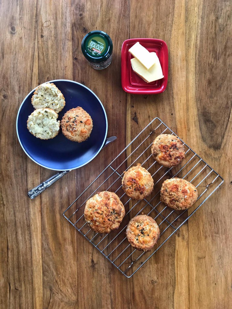 Cheese Scones with Achill Island Sea Salt and Atlantic Wakame