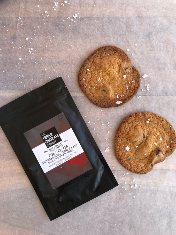 Sea Salted Chocolate Chip Cookies Recipe with Achill Island Sea Salt and The Proper Chocolate Company