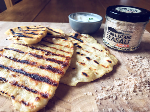 Chive and Garlic Flatbreads with Achill Island Smoked Sea Salt