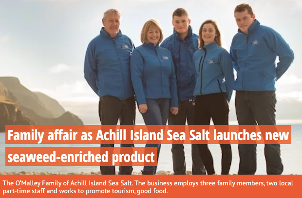The Irish Examiner: Family affair as Achill Island Sea Salt launches new seaweed-enriched product