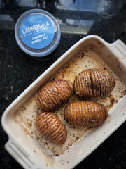 Hasselback potatoes with Connemara Seaweed Salt