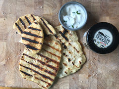 Achill Island Smoked Sea Salt Recipe of Chive and Garlic Flatbreads