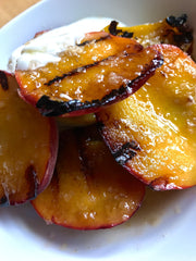 A smokey summer peach recipe with Achill Island Smoked Sea Salt