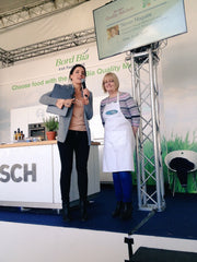 Marjorie speaking with Ella McSweeney on the Bord Bia Main Stage