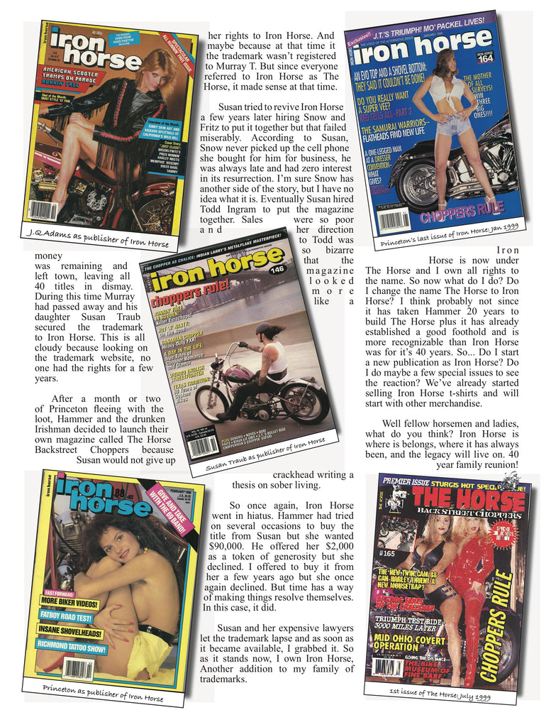 Iron Horse Magazine article page 2
