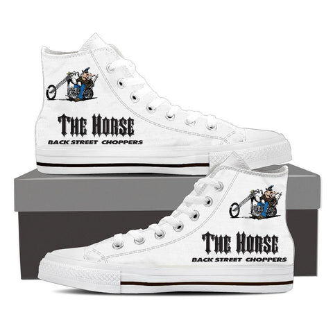 Charlie High Top White Canvas Shoe