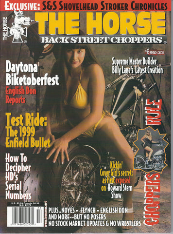 The Horse BackStreet Choppers Magazine Issue #6
