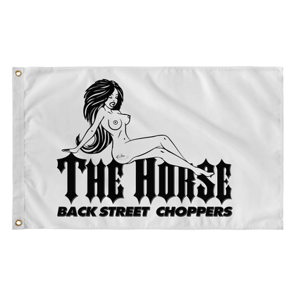 The Horse BackStreet Choppers Flag: Nude