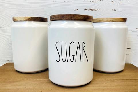 Sugar Canister Label!