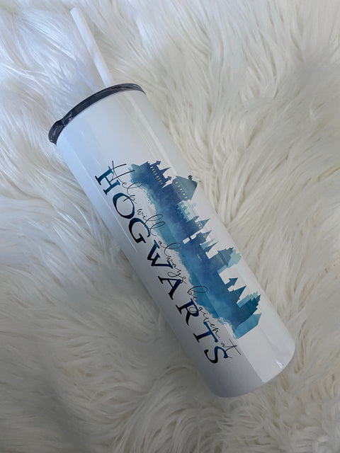 Help Will Always be Given at Hogwarts! Sublimation Tumbler! 20 oz!