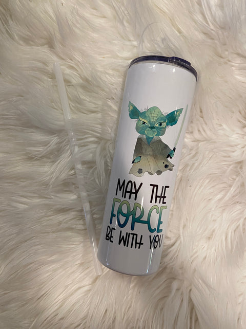 May The Force Be With You! Sublimation Tumbler! 20 oz!