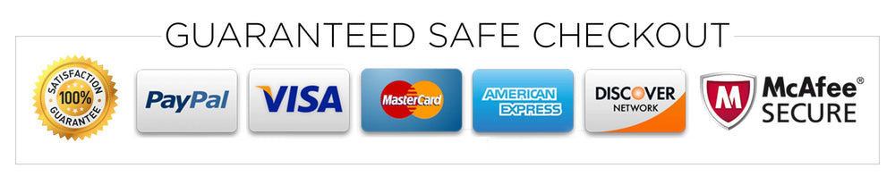 Shop with confidence - guaranteed safe checkout