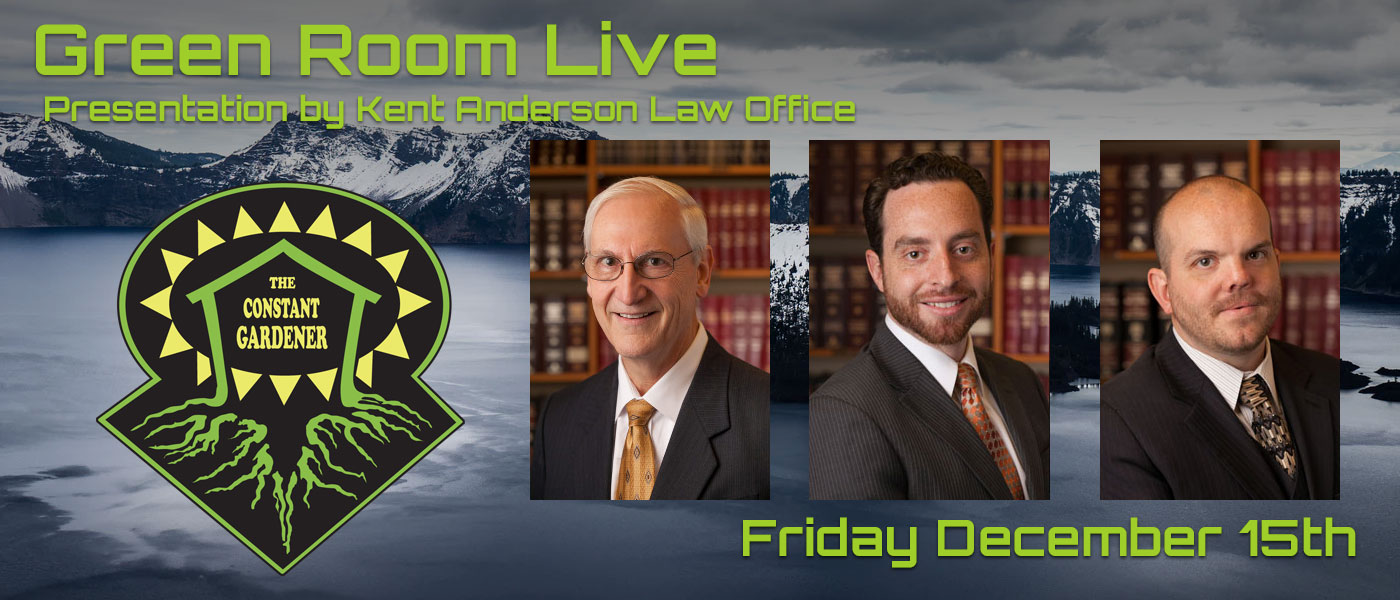 Green Room Live - Kent Anderson Law Office - December 15th