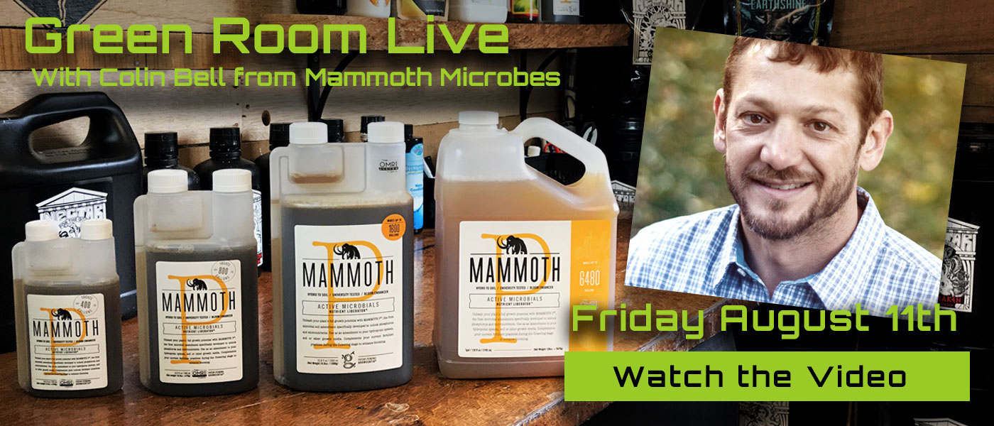 Green Room Live - Colin Bell of Mammoth Microbes - August 11th