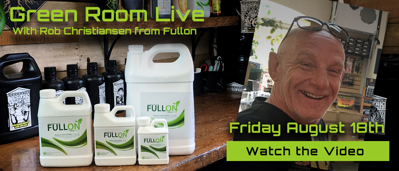Green Room Live - Rob Christiansen of FULLON - August 18th
