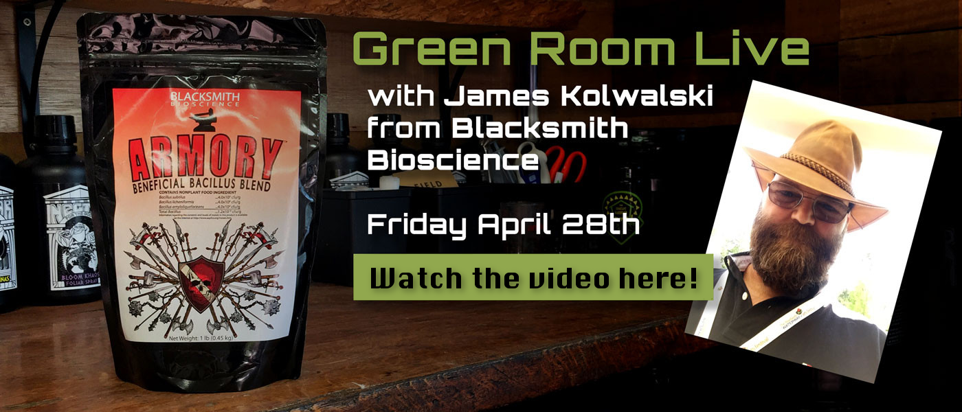 Green Room Live - James Kowalski of Blacksmith Bioscience - April 28th