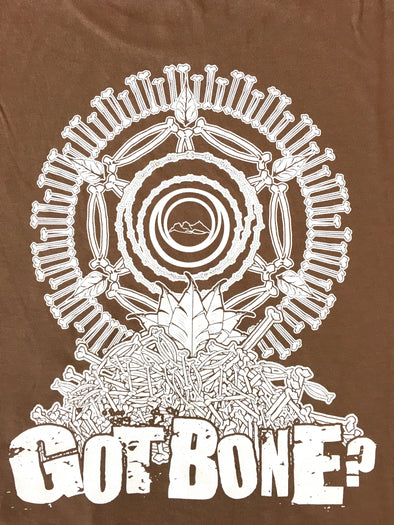 NFTG Shirt - GOT BONE? - Unisex Short Sleeve - BROWN